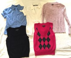 EXPRESS Lot Of 5 Business Casual Women's Tops Size Small #Express #ButtonDownShirtSweater #Career