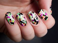 unhas decoradas 2014 com estampa floral