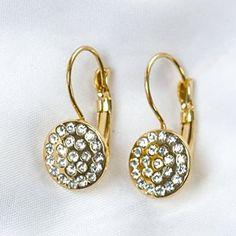 Gold Stone Disc Earrings http://shop.crackerbarrel.com/Gold-Stone-Disc-Earrings/dp/B0179X11V2