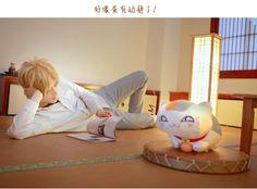 Anime : NATSUME YUUJINCHOU #Takashi #Natsume: #TiểuTiểuBạch ( #小小白 ) #Tama: #TiểuNhu ( #小柔SeeU)