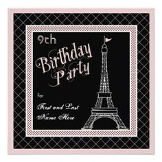 Shop Sweet 16 Pink Paris Birthday Party Invitation created by holidayhearts. Personalize it with photos & text or purchase as is! Bachelorette Party Planning, Bachelorette Party Invitations, Birthday Party Invitations, Paris Birthday Parties, 18th Birthday Party, Birthday Ideas, Sweet Sixteen Invitations, Custom Invitations, Invites