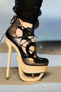 Celebrities who wear, use, or own John Galliano Fall 2009 Shoes. Also discover the movies, TV shows, and events associated with John Galliano Fall 2009 Shoes. Women's Shoes, Ugly Shoes, High Shoes, Me Too Shoes, Shoe Boots, Boot Heels, Zapatos Shoes, Heeled Sandals, Top Shoes