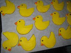 Duck butter cookies Butter, Baby Shower, Cookies, Baby Sprinkle Shower, Crack Crackers, Biscuits, Baby Sprinkle, Cookie Recipes, Baby Showers