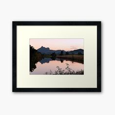 """My photo """"Mount Warning Reflection"""" shown here as a framed print. #wallart #mountain #sunset #homedecor #reflection"""