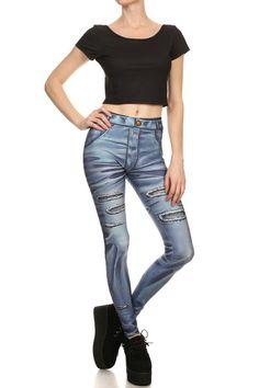 Comic Jeans Leggings - POPRAGEOUS  - 1