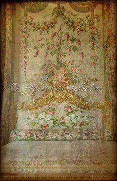 Marie Antoinette Floral Bedding, Versailles France