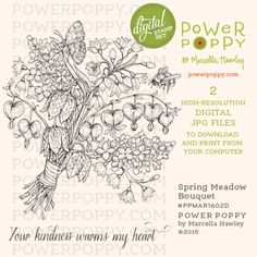 Spring Meadow Bouquet Digital Stamp Set