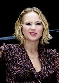 Jennifer Lawrence at the Mockingjay Press Conference in London
