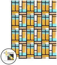 All-New Modern Block of the Month (BOM) Sew-Along: April Stained Glass Quilt Block
