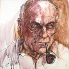 """Anan Cape - """"Patriarch"""" 2007 Australian Artists, Cape, Portrait, Mantle, Cabo, Men Portrait, Portrait Illustration, Portraits"""