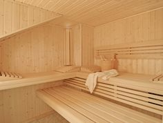 Relaxing three-bench sauna. #sauna #diamondfitness #finnish #health #relax #detox #luxury #helo #saunas