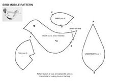 Fabric Bird Patterns Free | of cotton fabrics two beads for eyes small amount of polyester toy ...