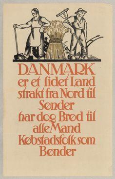 Danmark er et lidet Land strakt fra Nord til Sønder - Digital collections Keith Richards, Alter, Denmark, Thor, Wisdom, Digital, Danish, Illustration, Quotes