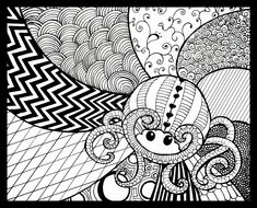zentagle art | zentangle by kayleighmc traditional art drawings abstract 2012 2014 ...