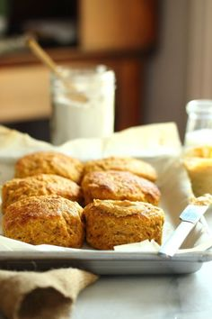 Nothing says fall quite like soft and flaky pumpkin spice biscuits!