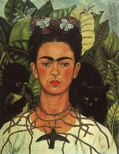 Frida Kahlo, Autoretrato con collar de espinas, 1940