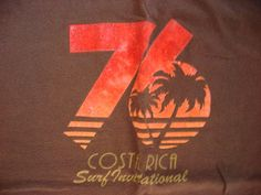 76 Costa Rica Surf International  Cotton Tshirt Small / Please contact for International shipping costs.