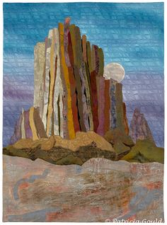 Moonrise, Shiprock by Patricia Gould