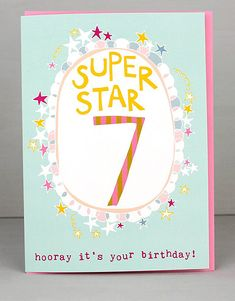 NEW 7th Birthday Cards For Girls by Molly Mae. I love this new range. You can also find the boys age range at Card Crush.