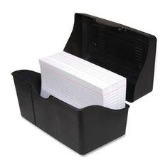 "ADVANTUS CORPORATION Index Card Holders, 4""x6"", Black (Set of 2)"