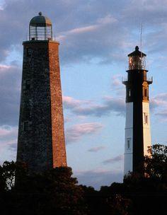Cape Henry Lighthouse near Virginia Beach, VA. http://images.fineartamerica.com/images-medium-large/cape-henry-lighthouses-in-virginia-skip-willits.jpg