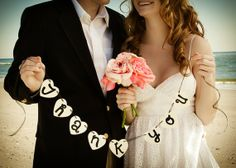 Thank You Wooden Heart Banner Wedding by yourethatgirldesigns