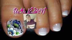 Cute Toe Nails, Cute Toes, Toe Nail Art, Fun Nails, Acrylic Nails, Cute Pedicures, Manicure And Pedicure, Nailart, Butterfly Makeup