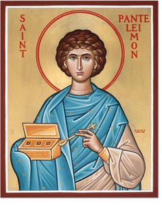 Image result for Panteleimon icon Religious Paintings, Orthodox Icons, Disney Characters, Fictional Characters, Saints, Sculptures, Disney Princess, Image, Google Search