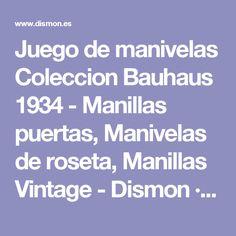 juego de manivelas coleccion bauhaus manillas puertas manivelas de roseta manillas vintage