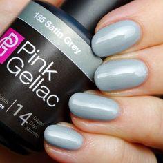 Pink Gellac 155 Satin Grey gelnagellak hand nagellak oufit zalando