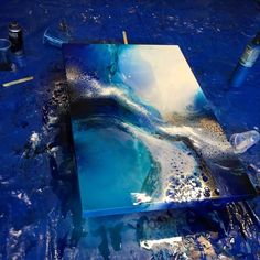 Image result for resin art liquid dye canvas