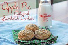 apple pie oatmeal sandwich cookies