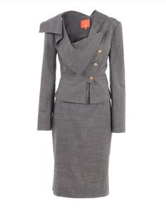 Vivienne Westwood Red Label Grey Wool Asymmetric Suit