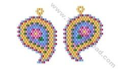 Paisley Earring Bead Pattern By ThreadABead