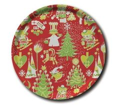 Opto Moomin Christmas Pattern Round Tray ∅38