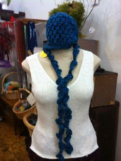 2 piece set with hat and scarf by Golden Quince Designs for only $32! 75% Acrylic, 25% wool, Machine wash cool.