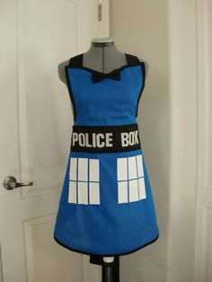 Doctor Who Tardis Inspired Apron by MelindaRiceFashions on Etsy, $38.00