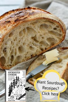 Sourdough Cookery Cookbook and Starter This cookbook includes 120-plus-year-old sourdough starter from the author's great-grandfather, one of the first prospectors to search for gold near Hope, Alaska, in 1896. It includes 100 heart-healthy recipes. Along with recipes for low-fat, low-sugar, low-sodium breads, biscuits and buns, you will find treats like Cranberry Chocolate Cake, White Chocolate Cherry Muffins and Apple Pumpkin Bread. #sourdoughrecipes #alaskagifts #sourdoughstarter