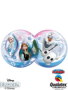Qualatex created this unique clear Bubble Balloon® featuring Elsa, Anna, and Olaf. Bring the Frozen magic to your loved ones with this Disney licensed product! Frozen Disney, Disney Disney, Disney Princess Birthday, Frozen Birthday, Bubble Balloons, Bubbles, Freeze, Anna Und Elsa, Princess Balloons