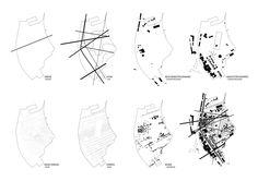 a f a s i a: - Konztanz / Kreuzlingen (Europan) Urban Analysis, Site Analysis, Urban Architecture, Architecture Drawings, Architecture Layout, Architecture Diagrams, Architecture Graphics, Anna Karenina Book, Map Design