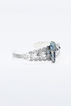 Bracelet manchette cristal argenté - Urban Outfitters