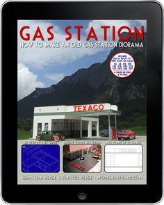 1/6 scale model buildings | Gas Station - How to make an old gas station diorama | ModelJunkyard