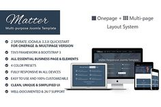 Ad: Matter-Multipurpose Joomla Template by WingThemes on Matter - is a Multi-purpose, Clean, Super-flexible and Fully Responsive Joomla! Which is perfect choice for any kind of Joomla Themes, Web Themes, Website Themes, Business Pages, Business Brochure, Business Card Logo, Responsive Template, Joomla Templates