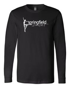 Springfield Ballet Bella+Canvas BLACK Jersey Knit LONG SLEEVE Unisex Tee