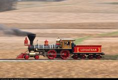 A gorgeous American 4-4-0 steaming along the tracks. Love it, love it!