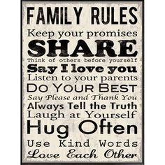 Family Rules :)