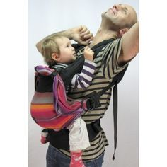 EmeiBaby carrier, combines the pros of wraps with those of soft structured carriers and adjusts like a ring sling.