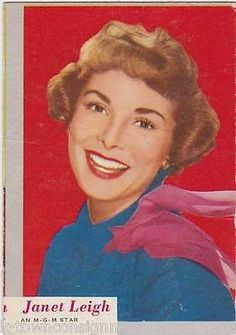 JANET LEIGH MGM MOVIE ACTRESS VINTAGE WHO-Z-AT STAR PHOTO CARD
