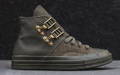 d05e59b1f6e4 Nigel Cabourn x Converse - Chuck Taylor in Harris Tweed and Brass Buckles  (Army