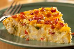 Satisfying the family at breakfast time is easy: Just serve this melty, bacon-sprinkled egg-and-potato bake. No skillet? No worries. Use a pie plate!